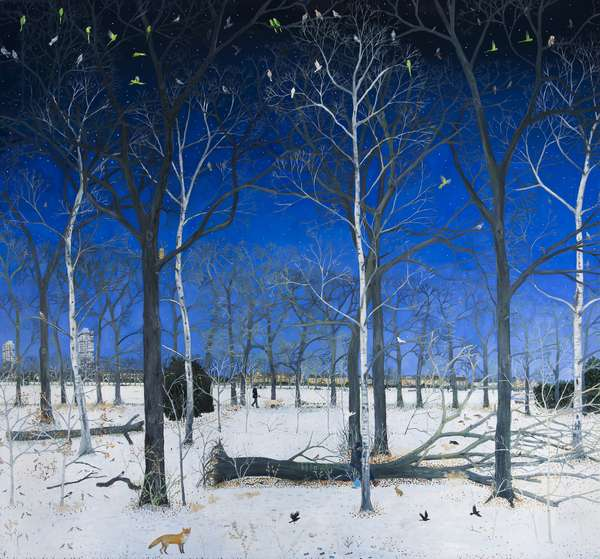 Snowy Woods, 2016, (oil on linen)