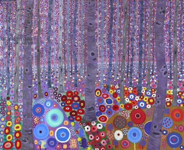 Klimt's Forest, 2010, (acrylic on canvas)