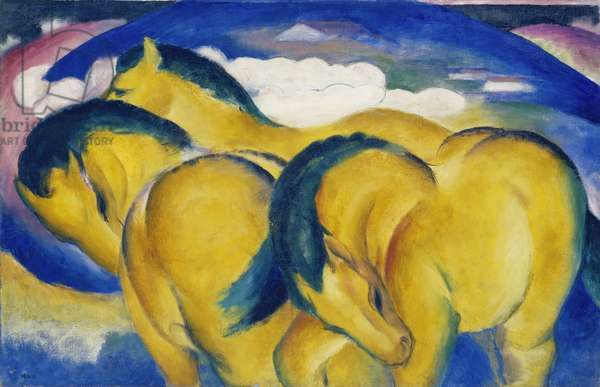 The Little Yellow Horses, 1912 (oil on canvas)