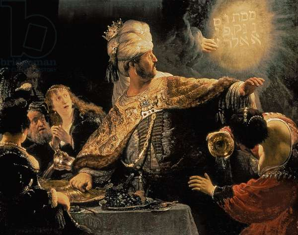 Belshazzar's Feast c.1636-38 (oil on canvas)