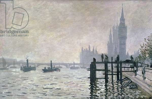 The Thames below Westminster, 1871 (oil on canvas)