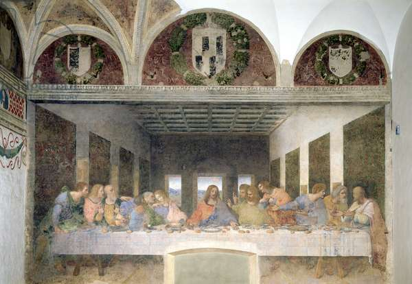 The Last Supper, 1495-97 (fresco) (post restoration)