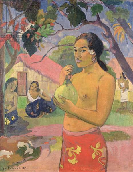 Woman with Mango, 1893 (oil on canvas)
