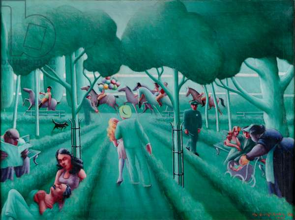 Sunday in the Park, 1941 (oil on canvas)