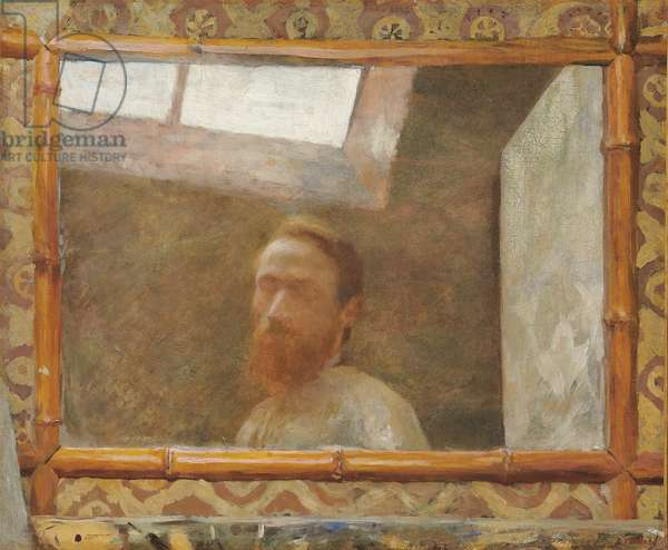 Self Portrait with a Bamboo Mirror; Autoportrait au miroir de bambou, c.1890 (oil on canvas)