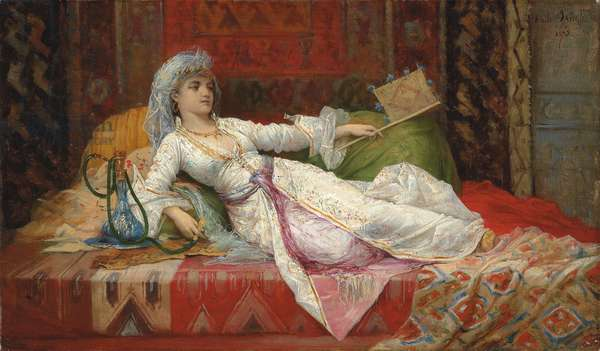 Reclining Turkish Woman; Femme Turque allongee, 1895 (oil on canvas)