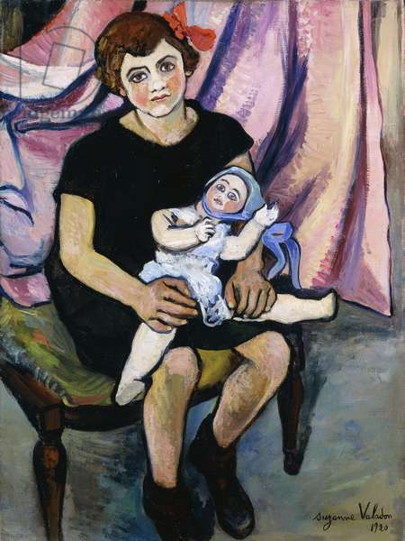 Girl with a Doll; Fillette a la Poupee, 1920 (oil on canvas)