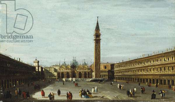 The Piazza San Marco, Venice looking East,  (oil on canvas)