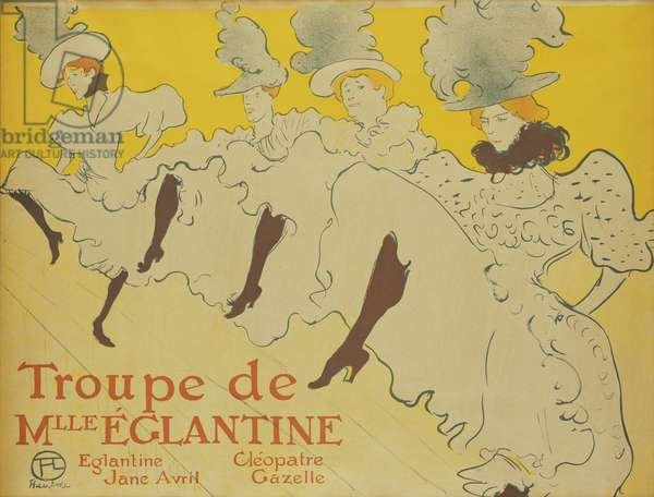 The Troupe of Mademoiselle Eglantine, 1896 (colour litho)