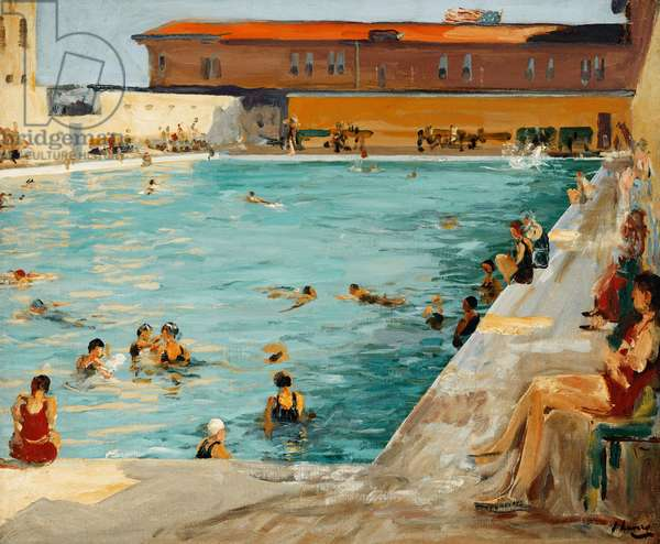 The Peoples' Pool, Palm Beach, 1927 (oil on canvas)