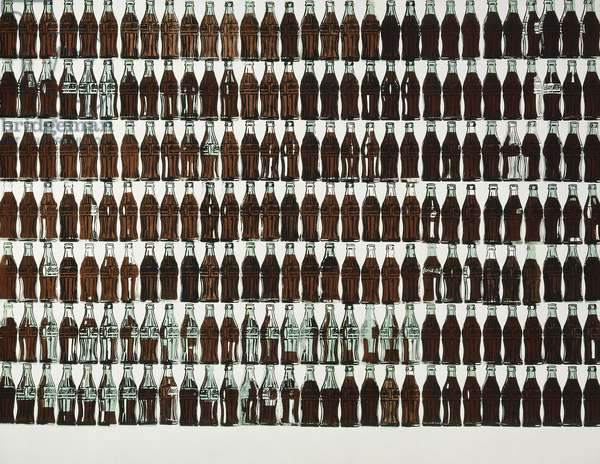 210 Coca-Cola Bottles, 1962 (silkscreen ink, synthetic polymer and graphite on canvas)