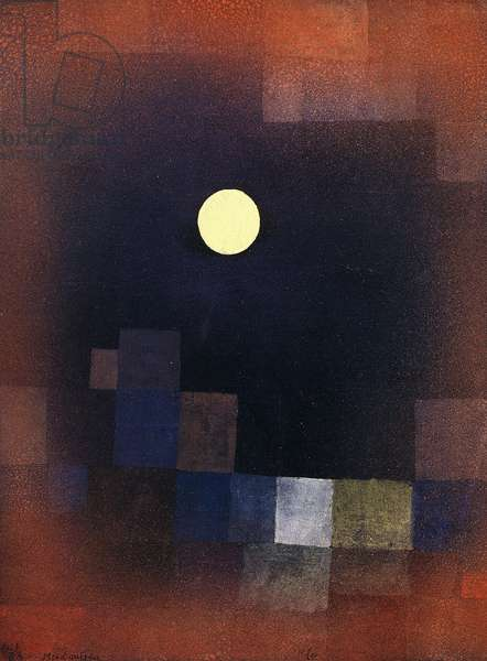 Moonrise; Mondaufgang, 1925 (watercolour and sprayed watercolour on paper laid down on the ar)
