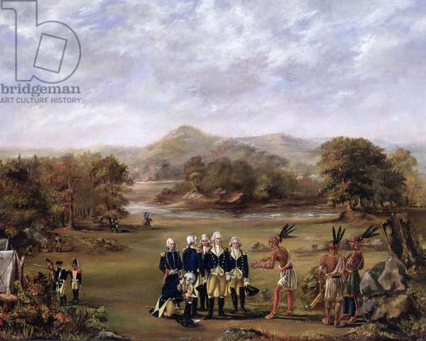 The Treaty of Greenville on August 3, 1795 (oil on canvas), 1805