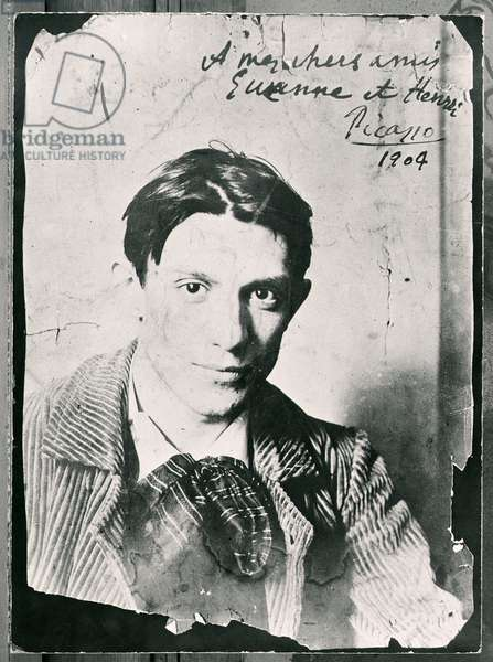 Pablo Picasso (1881-1973), 1904 (b/w photo)