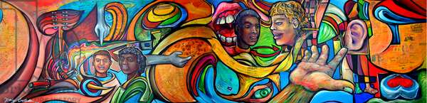 The Coexistence Mural, 2004 (acrylic and mixed media on canvas)