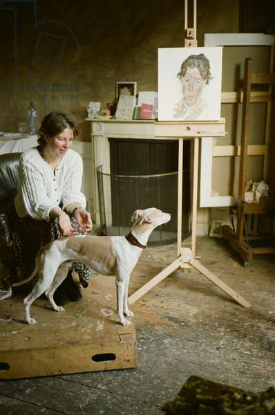 Sally Clarke sitting for Lucian Freud, 2008 (photo)