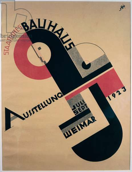 Bauhaus Exhibition Poster, 1923 (colour litho)