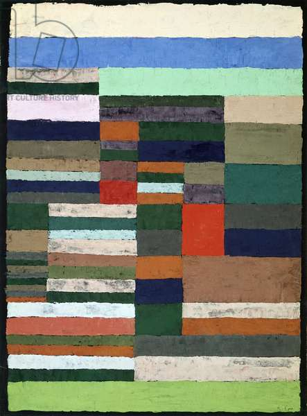 Individualized altimetry of stripes by Paul Klee (1879-1940), pastel on paper