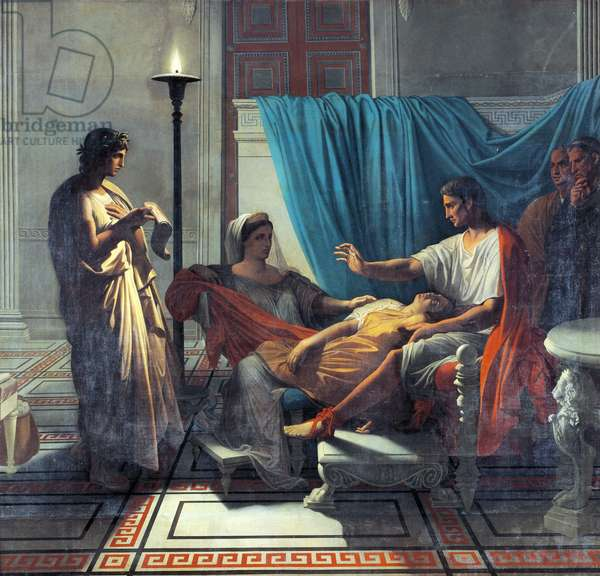 Virgil Reading Aeneid to Augustus, Octavia, and Livia, by Jean Auguste Dominique Ingres, 1812-1819, 1780-1867