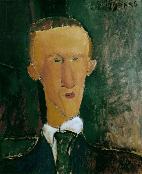 Portrait of Blaise Cendrars, by Amedeo Modigliani, 1918, 20th Century, oil on cardboard, 61 x 50 cm