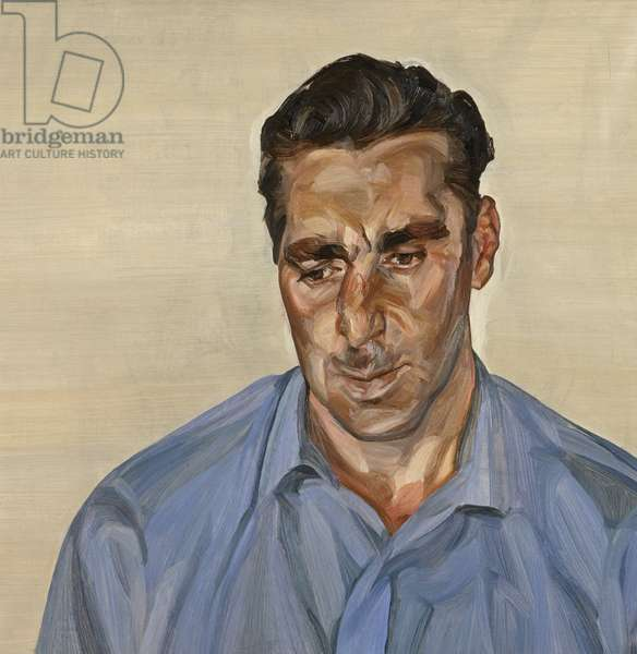 Man in a Blue Shirt, 1965 (oil on canvas)
