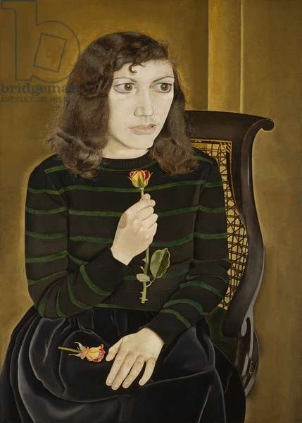 Girl with Roses, 1947-48 (oil on canvas)