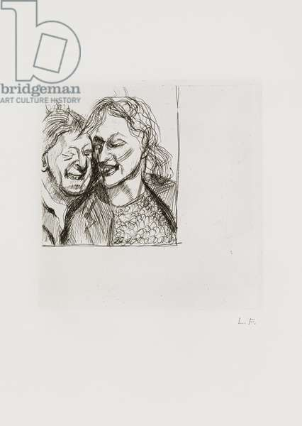 A Couple, 1982 (etching)