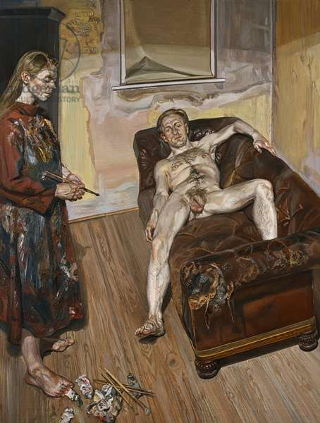 Painter and Model, 1986-87 (oil on canvas)