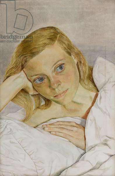 Girl in Bed, 1952 (oil on canvas)