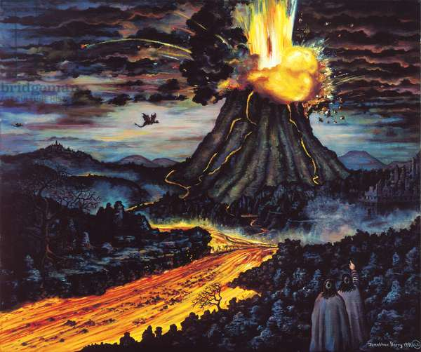 Mount Doom! 1996 (oil on canvas)
