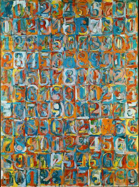 Numbers in Color, 1958-59 (encaustic and newspaper on canvas)