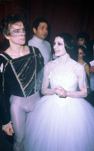 Carla Fracci and Rudolf Nureyev after a ballet, Italy, 1980 (photo)
