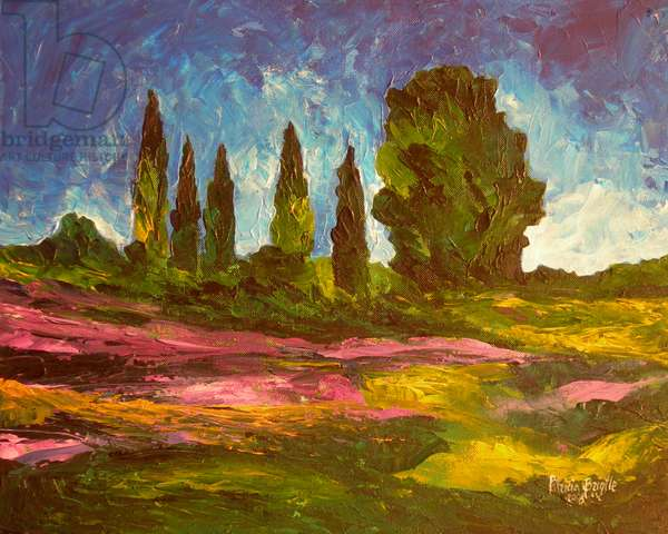 Lavenders are blooming, 2009 (acrylic on canvas)