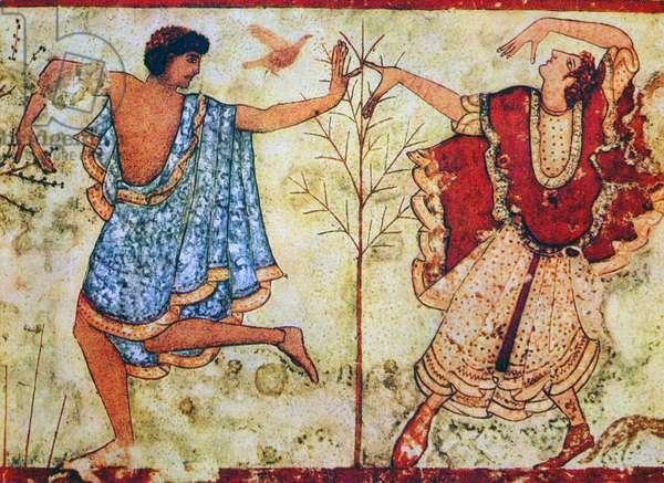 Two dancers, Monterozzi Tomb, Italy, 6th-4th century BC