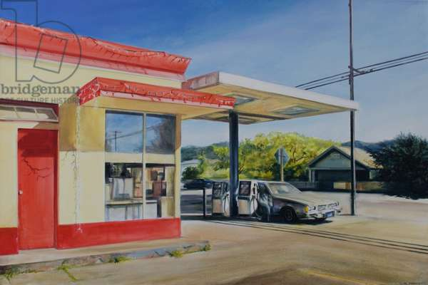 California Gas Station, 2012, (oil on canvas)