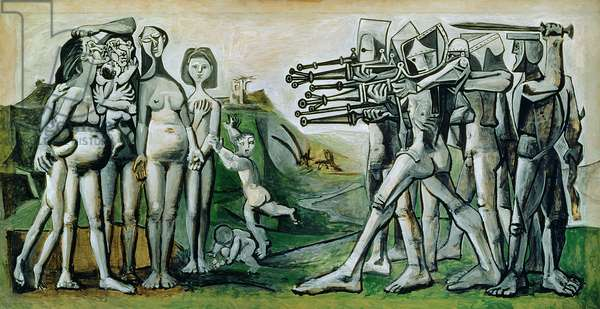 Massacre in Coree, 1951 (oil on canvas)
