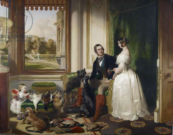 Windsor Castle in modern times: Queen Victoria, Prince Albert and Victoria, Princess Royal, 1840-43 (oil on canvas)