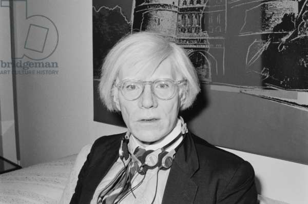 Andy Warhol in Luebeck (b/w photo)