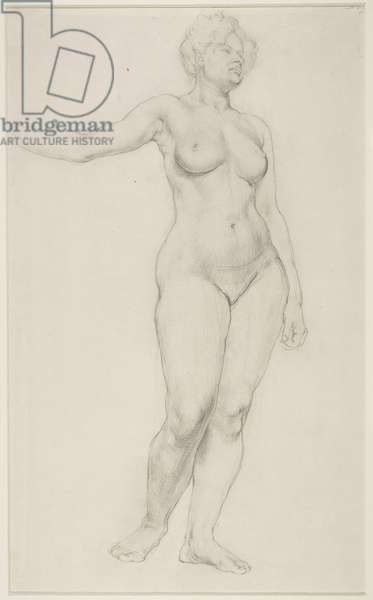 Standing Female Nude, 1914 (pencil on paper)