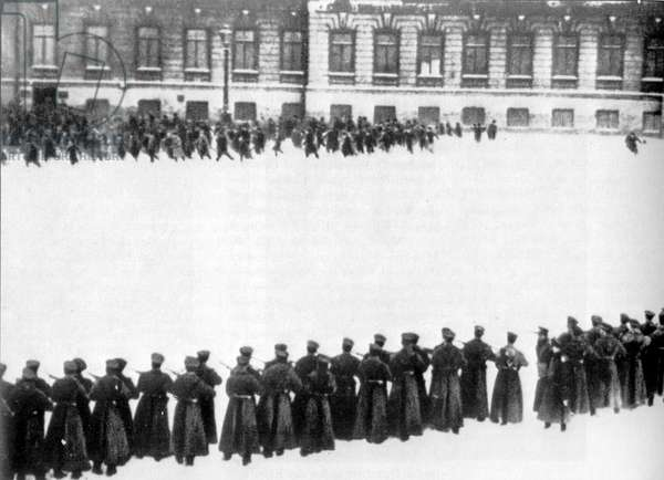 Massacre in St petersberg in front of the Winter Palace (Bloody Sunday) 1905