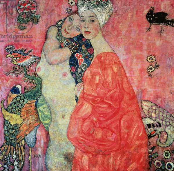 The Girlfriends, 1916-17 (oil on canvas) (destroyed in 1945)