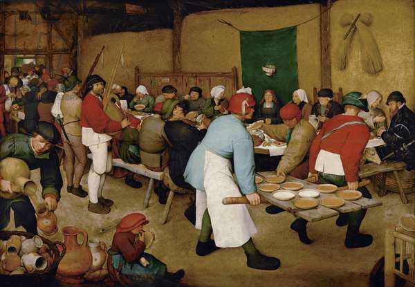 Peasant Wedding, 1568 (oil on panel)