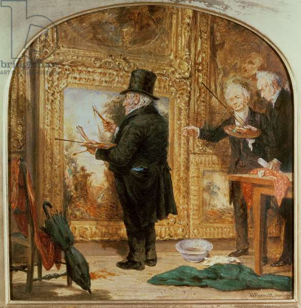 J. M. W.Turner (1775-1851) at the Royal Academy, Varnishing Day (oil on canvas)