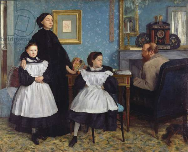 The Bellelli Family, 1858-67 (oil on canvas)