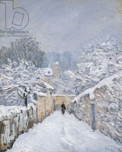 Snow at Louveciennes, 1878 (oil on canvas)