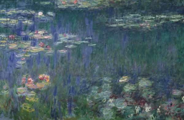 Waterlilies: Green Reflections, 1914-18 (left section) (oil on canvas) (see also 56001 & 56004)