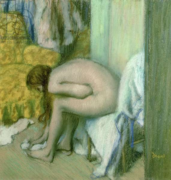 After the Bath, Woman Drying her Left Foot, 1886 (pastel on cardboard)