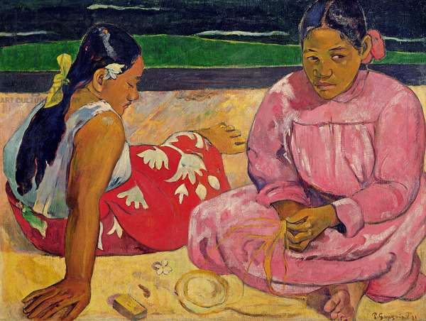 Women of Tahiti, On the Beach, 1891 (oil on canvas)