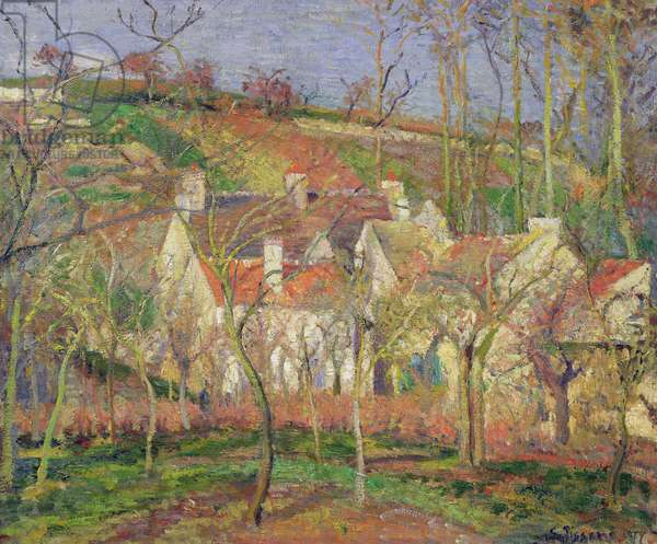 The Red Roofs, or Corner of a Village, Winter, 1877 (oil on canvas)