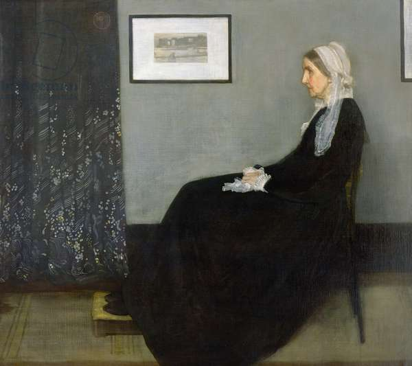 Arrangement in Grey and Black No.1, Portrait of the Artist's Mother, 1871 (oil on canvas)